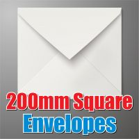 200mm Square White Envelope