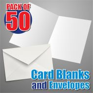 50 195mm Square Card Blanks and Envelopes