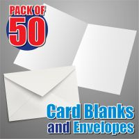 50 Slim Card Blanks and Envelopes