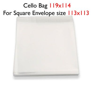 50 119mm x 114mm Cello Bags