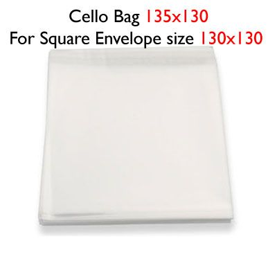50 130mm x 135mm Cello Bags