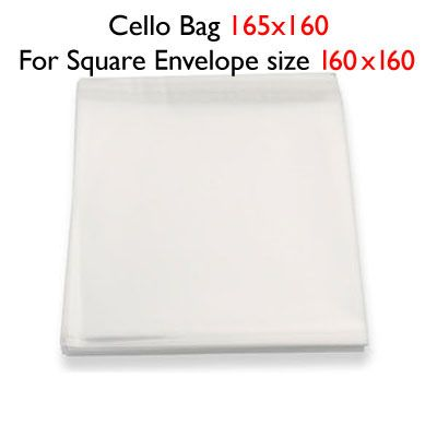 50 160mm x 165mm Cello Bags