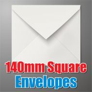 140mm Square White Envelope