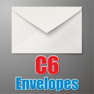 C6 White Envelope