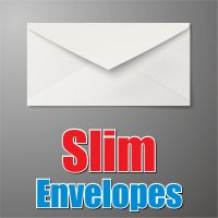 Slim White Envelope