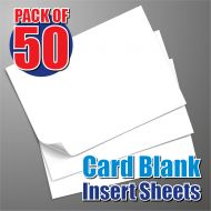50 125mm Square Card Blank Insert Sheets